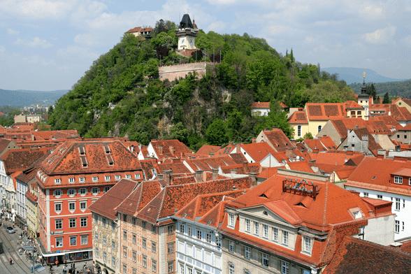 Schlossberg; een berg in de stad