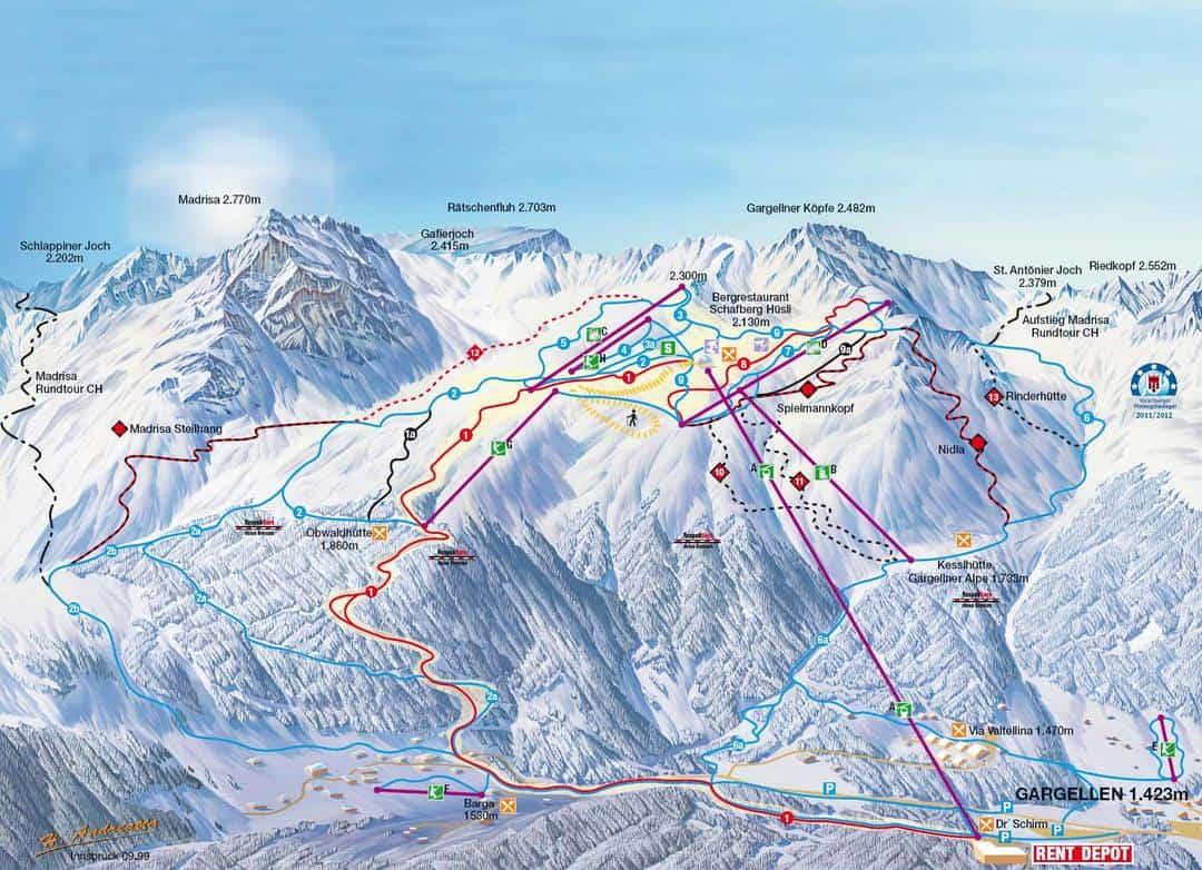 Skigebied Gargellen