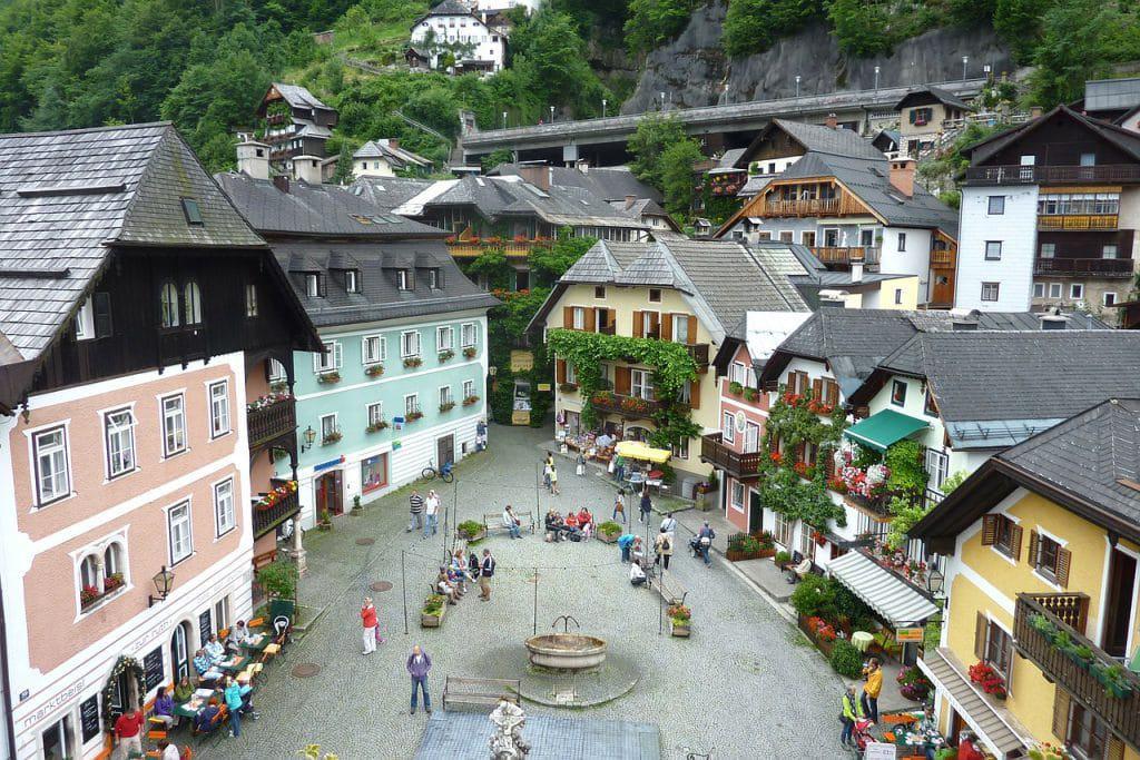 Hallstatt- dorpsplein