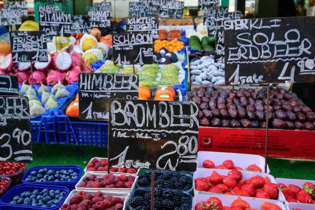 De Naschmarkt in Wenen