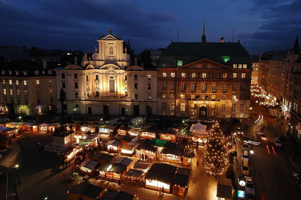 Kerstmarkt am Hof Wenen