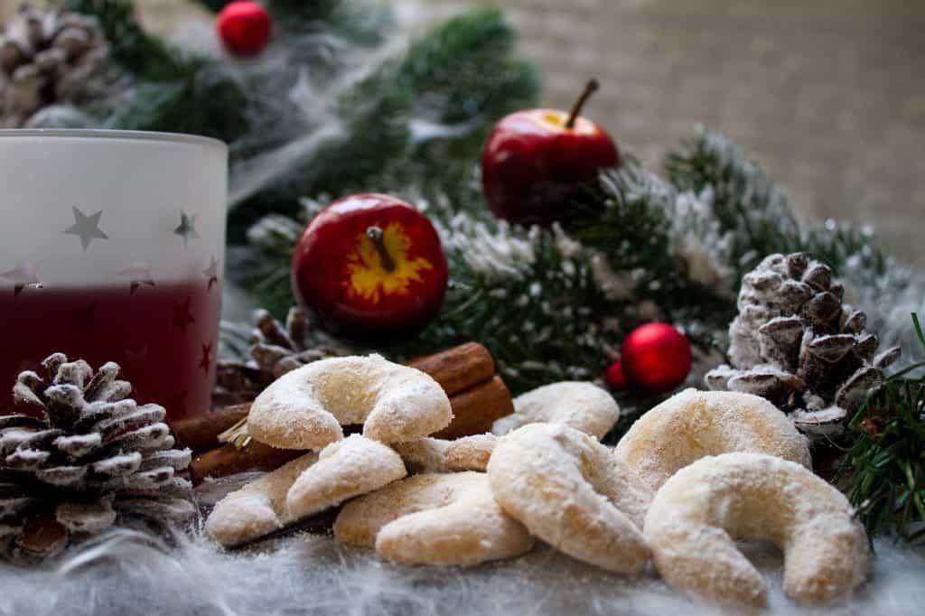 Kerstkoekjes op de kerstmarkt
